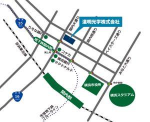 道明光学株式会社への地図