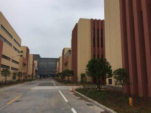 巨大な反射材工場